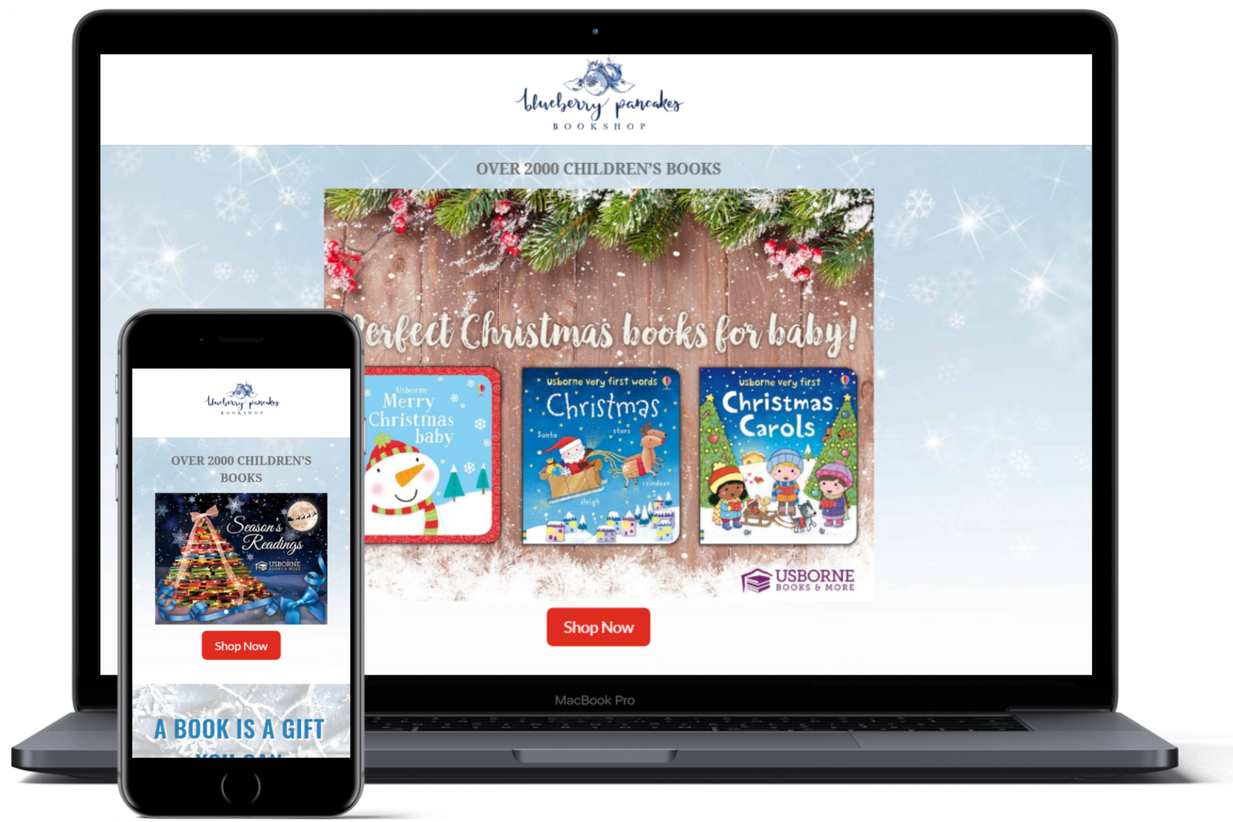 website showcase blueberry