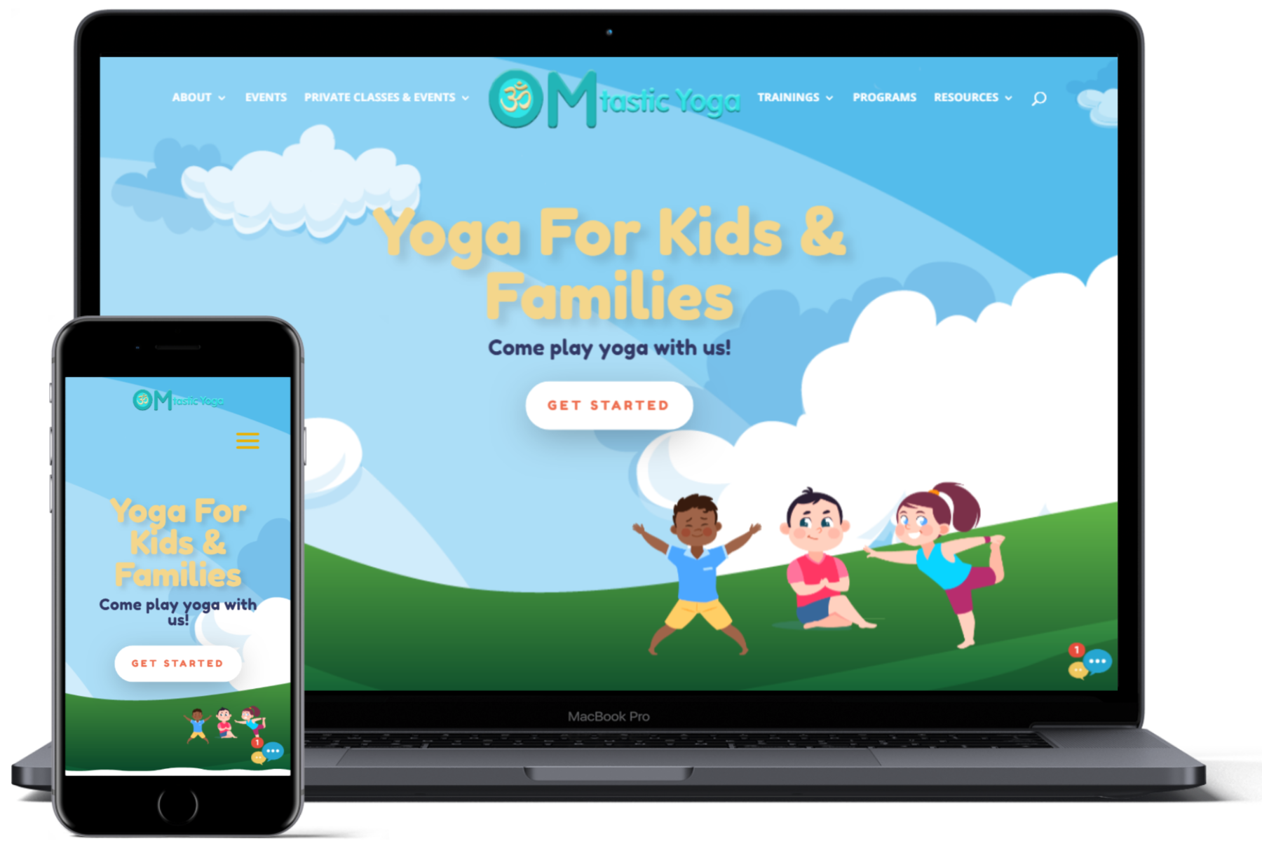 website showcase omtasticyoga